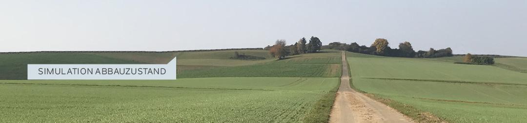 Simulation Abbauzustand Blick von Schupbacher Seite