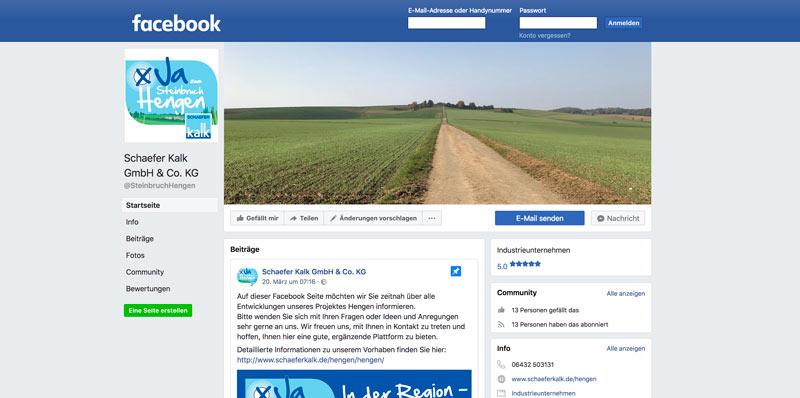 Teaser Facebook-Seite